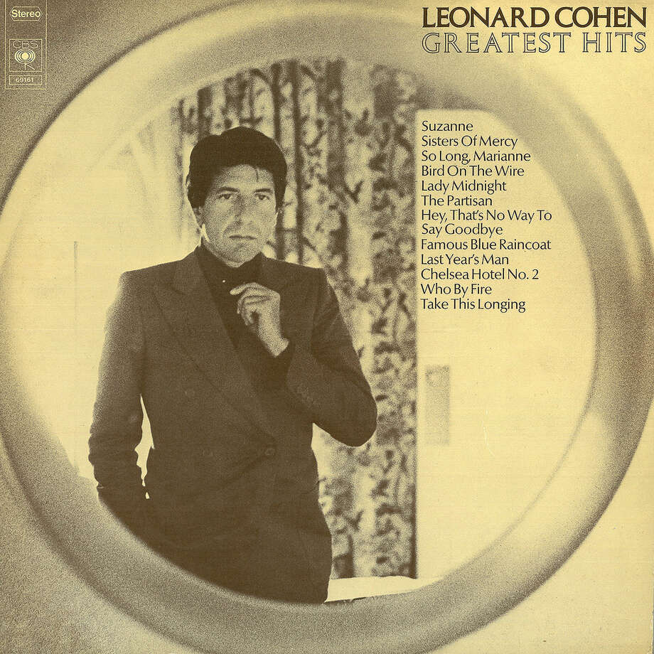 Leonard Cohen, 'Greatest Hits': The less skin he shows the hotter he looks. Photo: Columbia Records