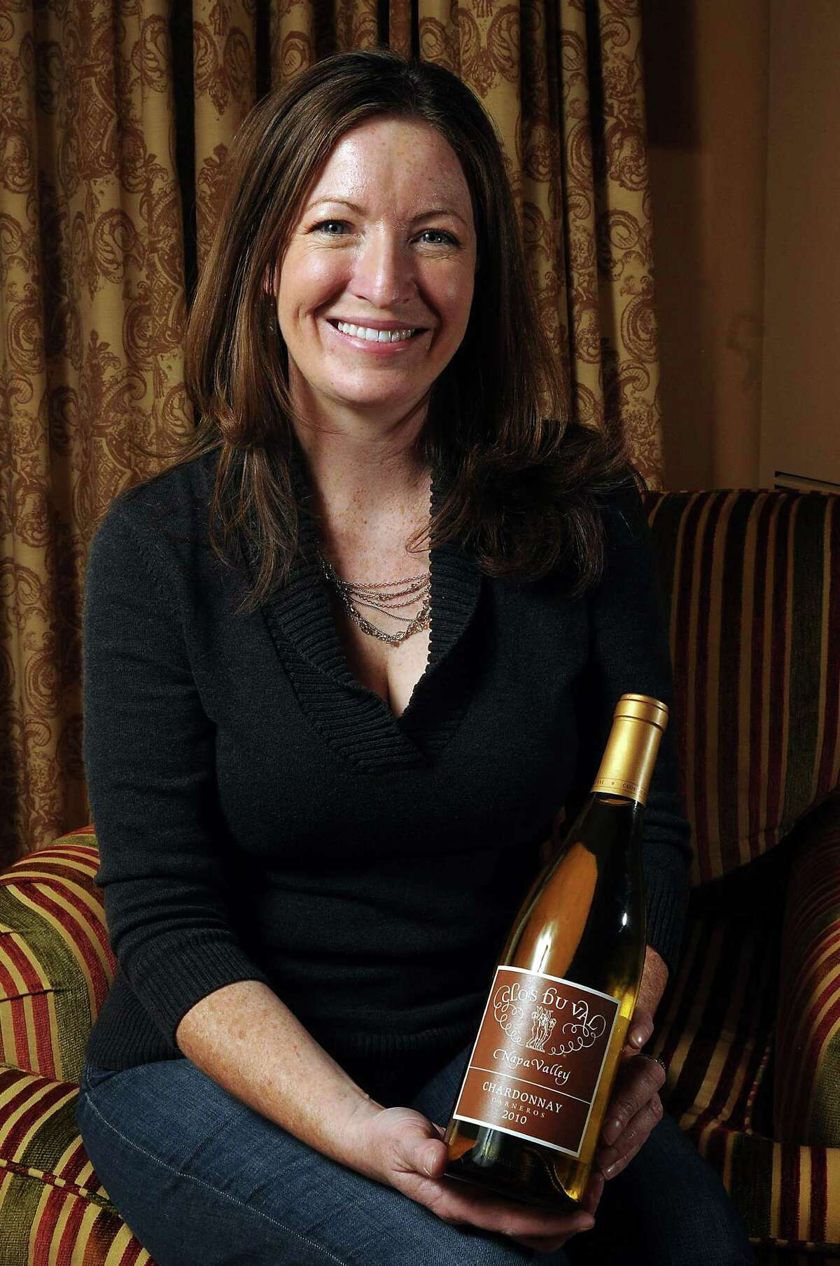 Kristy Melton's 2010 Clos du Val Chardonnay has won a double-gold medal at the rodeo.