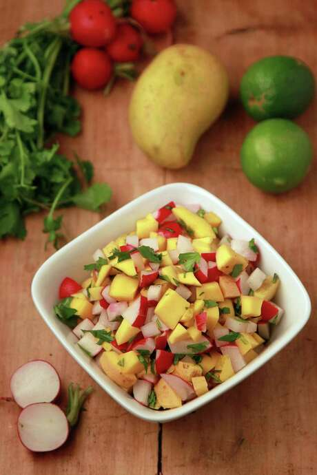 Mango Salsa featured in Kitchen to Kitchen food column on March 6, 2014, in Houston. ( Mayra Beltran / Houston Chronicle ) Photo: Mayra Beltran, Staff / © 2014 Houston Chronicle