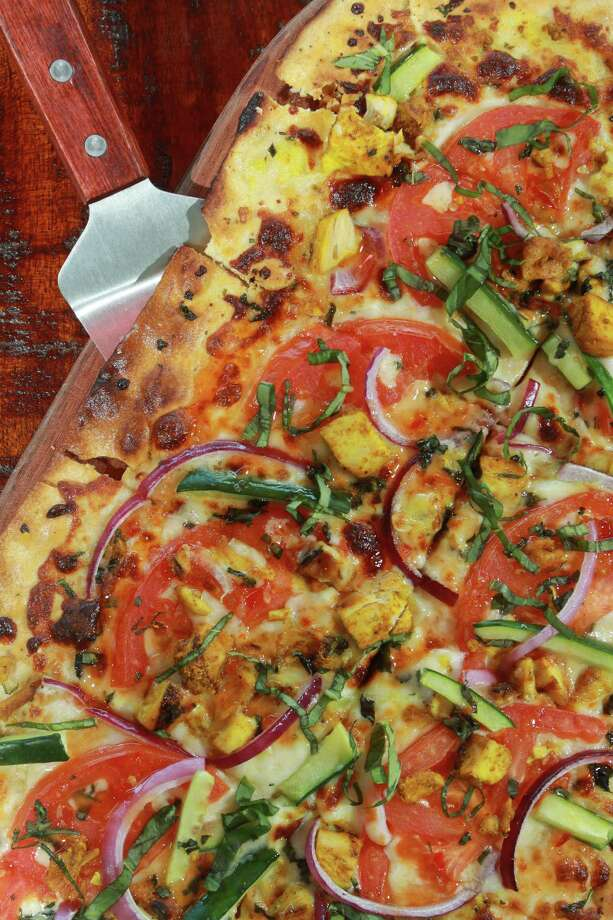 Thai Dye Artisan pizza at City Oven. Photo: Gary Fountain, Freelance / Copyright 2014 by Gary Fountain