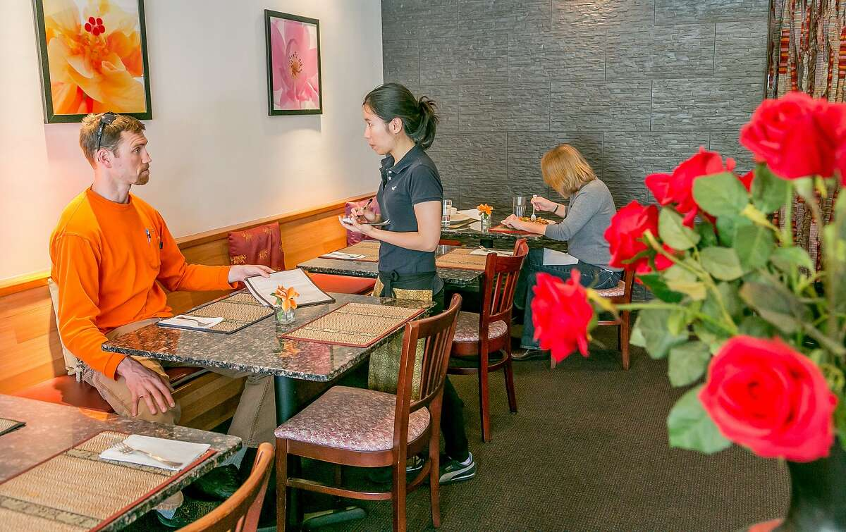 Diners enjoy lunch at Baan Thai in Orinda, Calif., on March 13th, 2014.