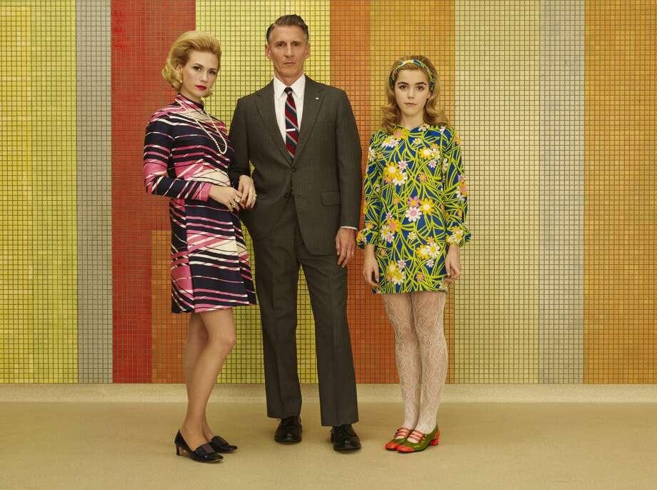 Betty Francis (January Jones), Henry Francis (Christopher Stanley) and Sally Draper (Kiernan Shipka) Photo: Frank Ockenfels 3/AMC