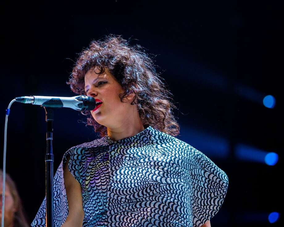 PHILADELPHIA, PA - MARCH 17: Regine Chassagne of Arcade Fire performs at the Wells Fargo Center on March 17, 2014 in Philadelphia, Pennsylvania. (Photo by Jeff Fusco/Getty Images) Photo: Getty Images