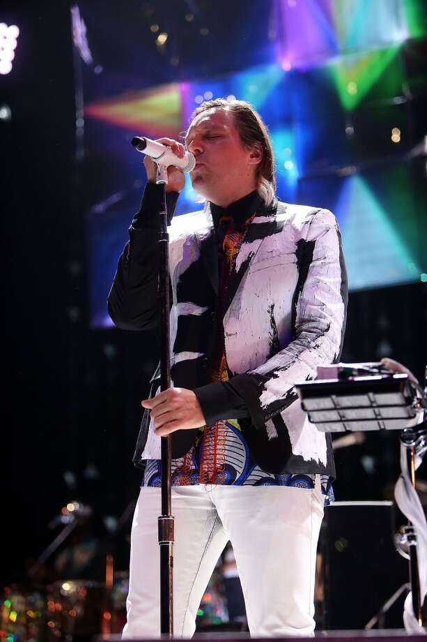 PHILADELPHIA, PA - MARCH 17:  Win Butler of Arcade Fire performs live at the Wells Fargo Center March 17, 2014 in Philadelphia, Pennsylvania  (Photo by Bill McCay/WireImage) Photo: WireImage