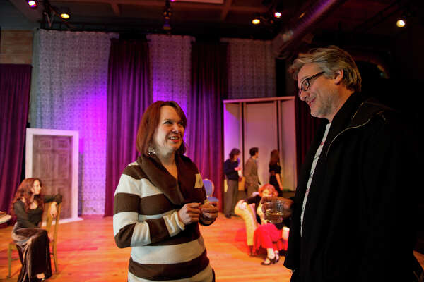 """Playwright John Harvey discusses his play, """"Rome"""" with director Jennifer Decker."""