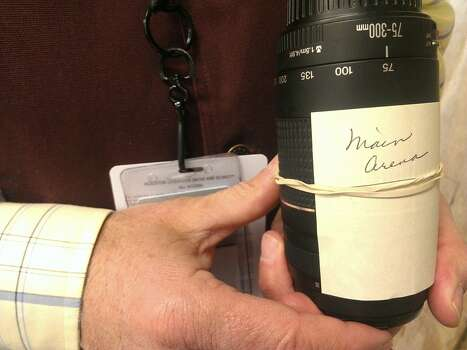 An expensive camera lens was found a days back. Photo: Craig Hlavaty/Houston Chronicle