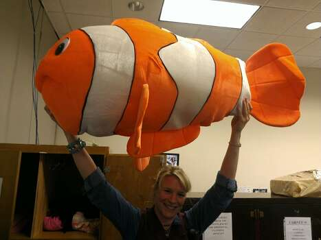 Lost and found has found your Nemo toy. Someone must have spent a lot of carnival tickets to score this fish. Photo: Craig Hlavaty/Houston Chronicle