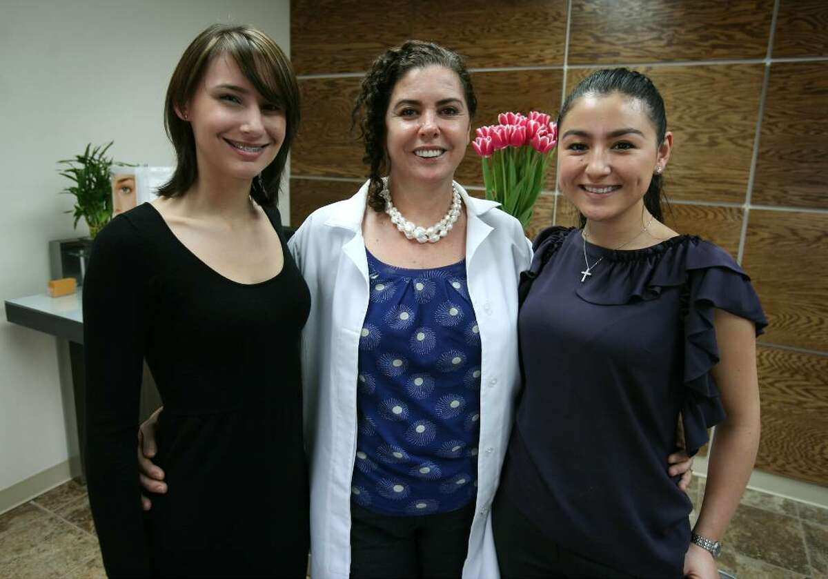 From left; Receptionist Sabrina Jones, and co-owners and mother/daughter Rosemery Fassbender and Veridiana Takemori at The Waxing Spot at 420 Post Road West in Westport.