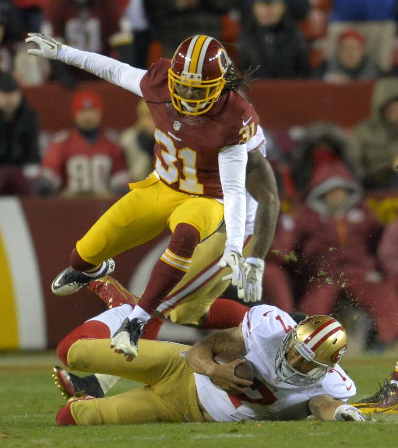 Brandon Meriweather  Position: S  Status: Re-signed with Washington Redskins Photo: Doug Kapustin, McClatchy-Tribune News Service