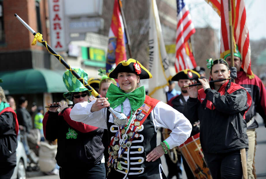 The Connecticut Rebels of '76 marches in last year's St. Patrick's Day Parade and Whalers Commissioner's Cup victory celebration in Danbury, Conn. Danbury's St. Patrick's Day parade will kick off this year at 2 p.m. on Sunday, March 23, 2014. Photo: Carol Kaliff / The News-Times