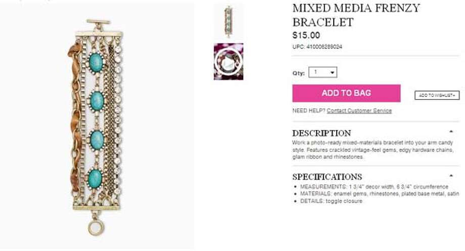 Mixed Media Frenzy braceletfrom Charming Charlie, $15.00