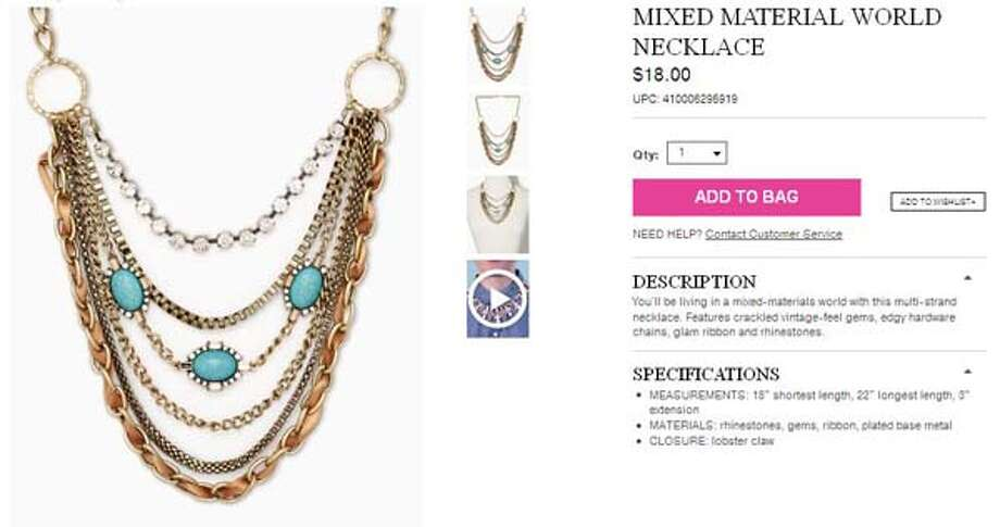 Mixed Material World Necklace from Charming Charlie, $18