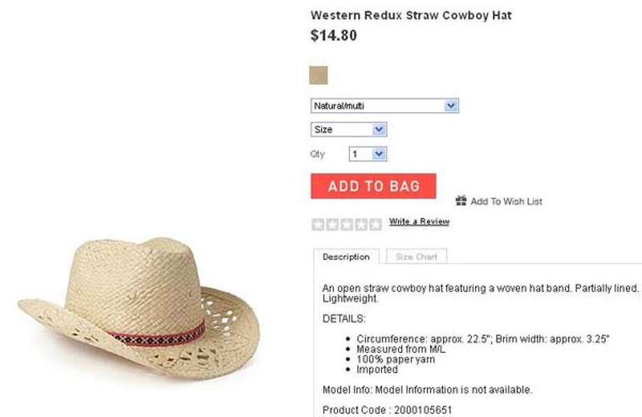 Western Redux straw cowboy hat from Forever 21, $14.81