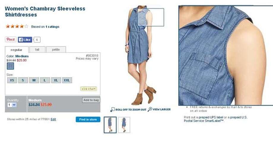 Women's Chambray sleeveless shirtdresses from Old Navy, $25-34.94