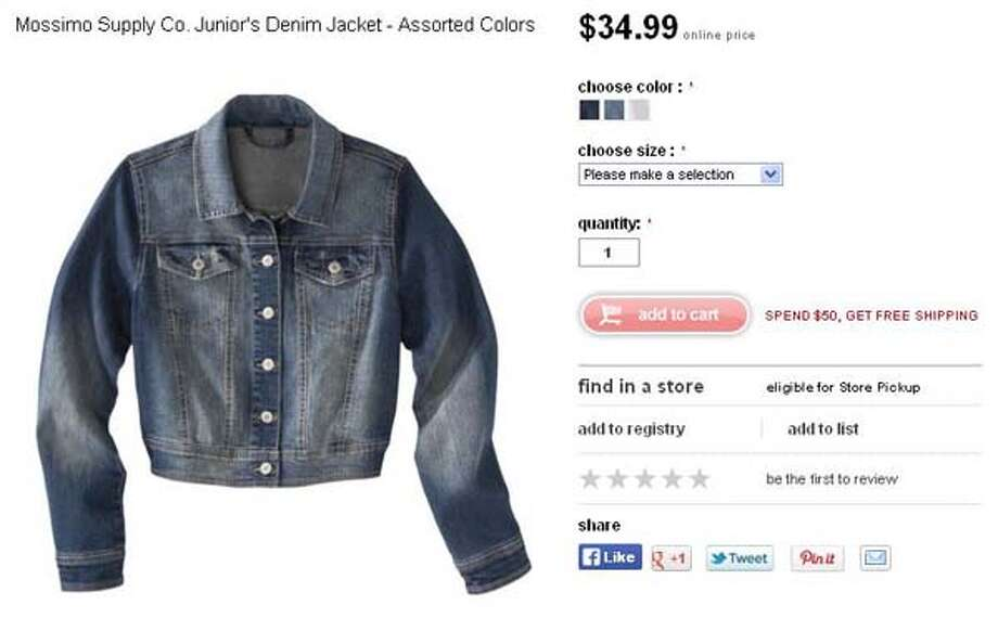 Mossimo Supply Co. junior's denim jacket from Target, $34.99