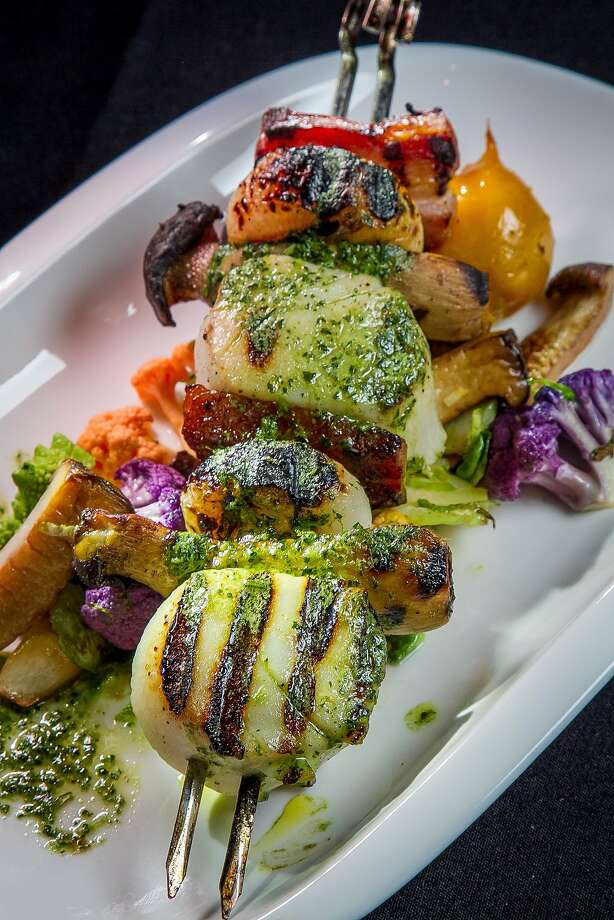 "Above, sea scallop ""Spiedini"" on skewers at Gusto in San Carlos. Photo: John Storey, Special To The Chronicle"
