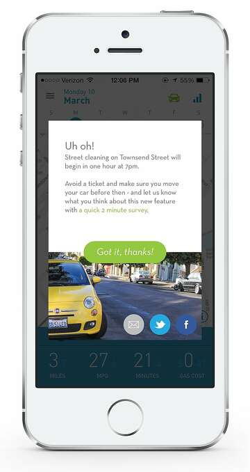 MetroMile's parking app helps S F  drivers avoid tickets