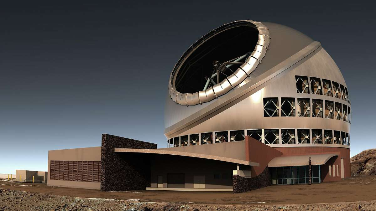 Photo illustration of the $1 billion Thirty Meter Telescope in Hawaii, which would be partly run by the University of California.