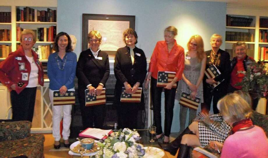 The Hannah Benedict Carter Chapter, NSDAR, inducted six new members: Kitty Slattery; Rose Rothbart; Barbara OíConnor; Jean Grzelecki; Breanna Kulkin; and Lesley Cousley. Photo: Contributed Photo, Contributed / New Canaan News Contributed