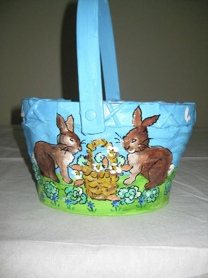 The New Canaan Sewing Group's annual Spring Boutique will take place from 9 a.m. to 3 p.m. Friday, April 4, at St. Markís Church. Above, a hand-painted Easter basket. Photo: Contributed Photo, Contributed / New Canaan News Contributed