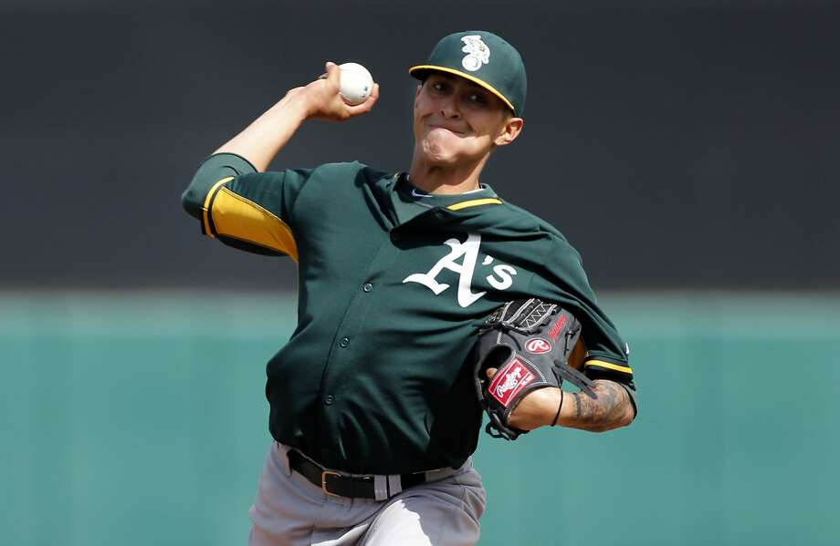 The A's pitching depth, like Jesse Chavez, could be the difference in the AL West. Photo: Michael Macor, The Chronicle