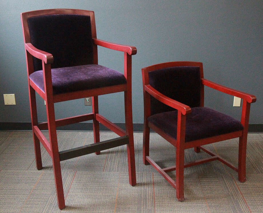 Movable luxury box chairs made by SE&O Seating of San Antonio also will be used at the Tobin Center. / ©San Antonio Express-News/Photo may be sold to the public
