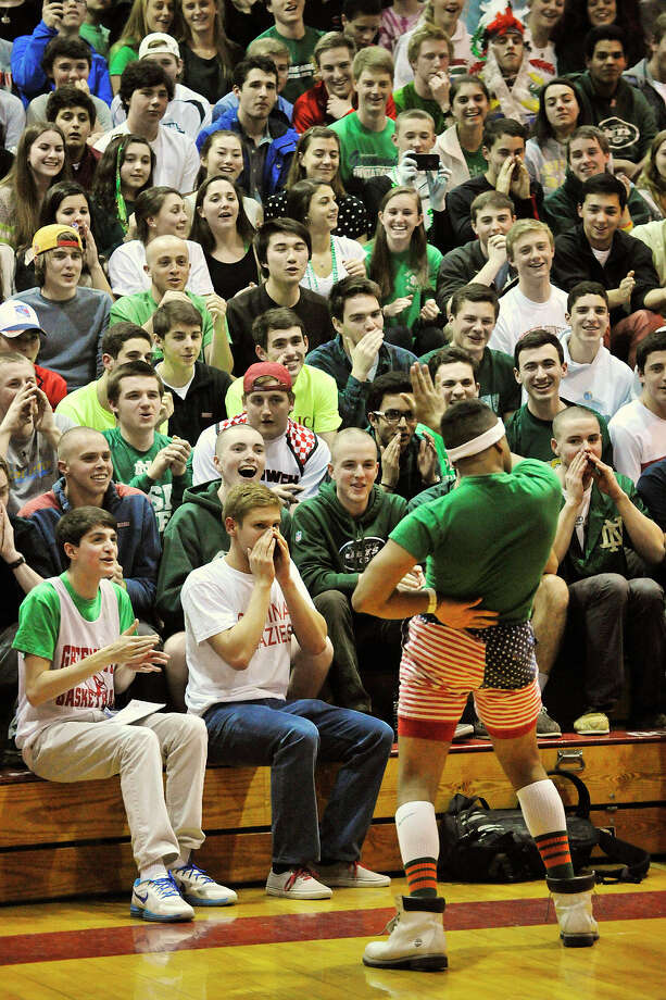 Scenes from the New Britain versus Greenwich Class LL boys basketball quarterfinal at Greenwich High School in Greenwich, Conn., on Monday, March 17, 2014. Greenwich won, 59-54. Photo: Jason Rearick / Stamford Advocate