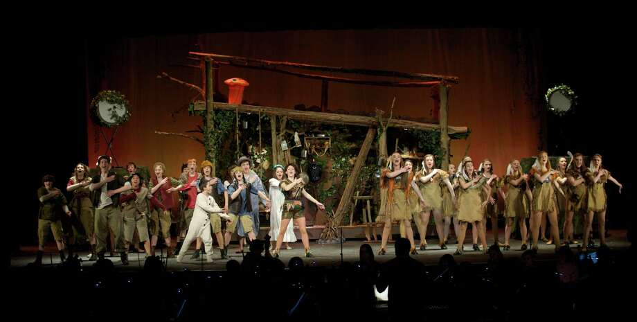 "Dress rehearsal for the Newtown High School production of ""Peter Pan' on Tuesday night, March 18, 2014. Photo: H John Voorhees III / The News-Times Freelance"