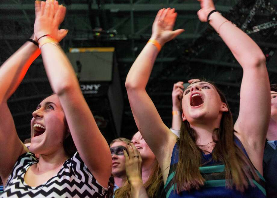 Fans of Arcade Fire enjoying the show at the Webster Bank Arena, Bridgeport CT on Tuesday, March, 18th, 2014. Photo: Mark Conrad / Connecticut Post Freelance