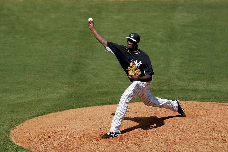 TAMPA, FL - MARCH 18:  Michael Pineda #35 of the New York Yankees throws a pitch in the fifth inning of a game against the Boston Red Sox at George M. Steinbrenner Field on March 18, 2014 in Tampa, Florida.  (Photo by Stacy Revere/Getty Images) ORG XMIT: 468843673 Photo: Stacy Revere / 2014 Getty Images