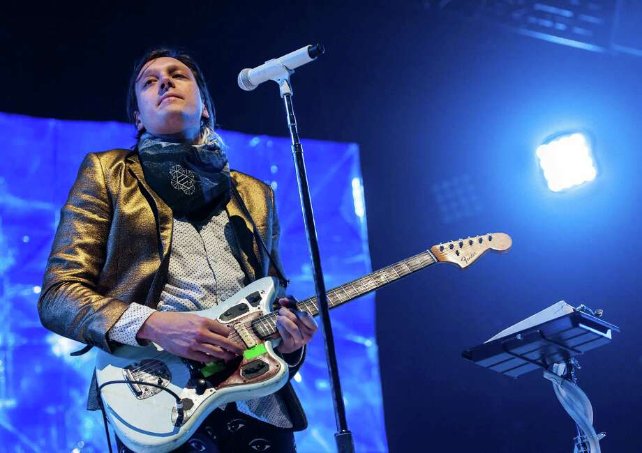 Win Butler and the band Arcade Fire performs at the Webster Bank Arena, Bridgeport CT on Tuesday, March, 18th, 2014. Photo: Mark Conrad / Connecticut Post Freelance