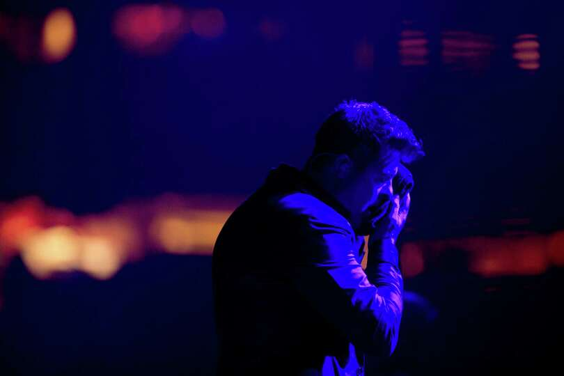 Robin Thicke performs at Reliant Stadium during the Houston Livestock Show and Rodeo, Tuesday, March