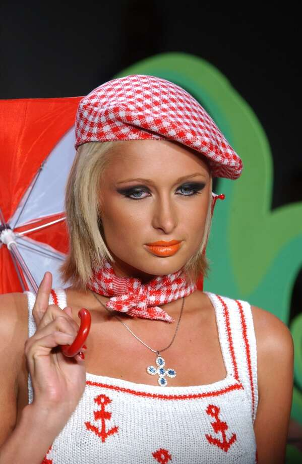 Paris Hilton during Mercedes-Benz Fashion  Week 2003 in New York City. Photo: Dimitrios Kambouris, WireImage