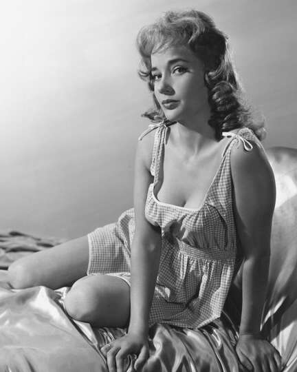 English Actress Sylvia Syms In A Gingham Nightdress Circa