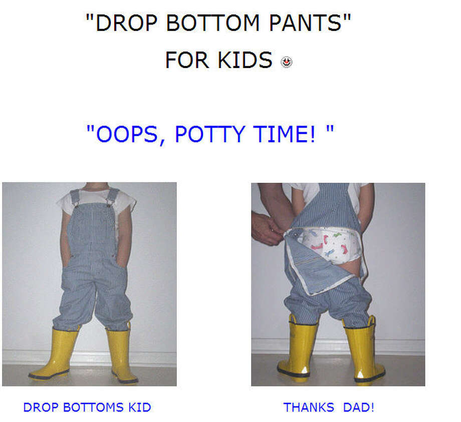Drop Bottom PantsCreated by Jeanette and Scott KernThe pants have a zip-away rear section.Price: $24.99 Photo: Dropbottoms.com