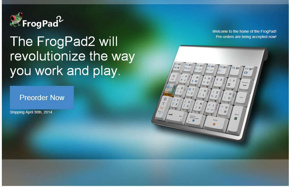 FrogPad2Created by Mike GillespieThe pad is a one-handed keyboard.Price: $199-$299.99 Photo: Frogpad2.com
