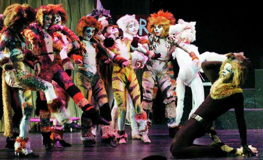 """""""Cats"""" the musical has hot the stage at New Milford High School. Catch the show this weekend on March 28 at 7 p.m. or on March 29 at 2 p.m. and 7 p.m. Find out more.  Photo: Norm Cummings / The News-Times"""
