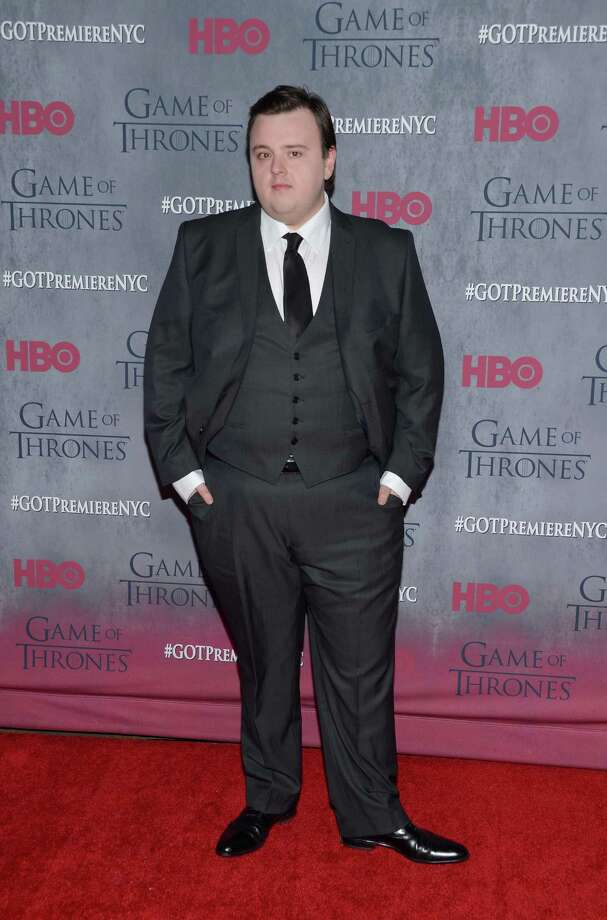 Actor John Bradley looking dapper at the season four premiere in New York.   Photo: Evan Agostini, AP / Invision