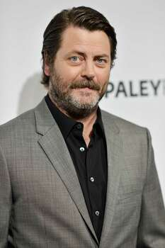 "'Nick Offerman: American Ham' - Riding on the crest of his TV success in ""Parks & Recreation,"" musician and comedian Nick Offerman covers a galaxy of topics in a one-man stage show. Filmed live in New York, the show features Offerman's woodworking skills and tips for prosperity. Available Dec. 12 Photo: Richard Shotwell, AP / Invision"