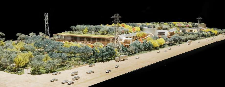 A model of Frank Gehry's design for Facebook's new headquarters. Photo: Business Insider