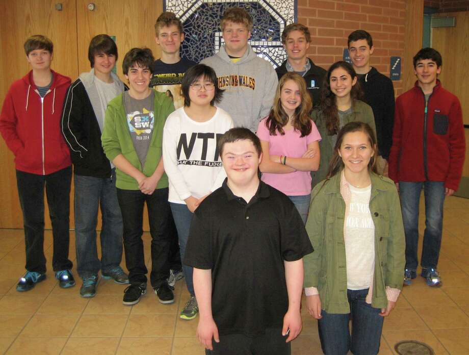 STAPLES MARCH STUDENTS OF THE MONTH Staples High School has cited 14 students as Students of the Month for March. Each month, Staples honors students who fulfill all of their responsibilities, are friendly to staff and peers and contribute in classes but otherwise might not receive recognition. March honorees are, rront row, from left, Peter Gifford and Courtney Brockwell. Second row, Adam Riegler, Jisu Ahn, Hallie Lavin and Renee Weisz. Back row, Trevor Gehb, Casey Floyd, Yevgeny Lensky, Jacques Voris, Tanner Wood, Sam DiMaio and Dylan Diamond. Arin Meyer also was honored but was absent when the photo was taken. Photo: Westport News/Contributed Photo / Westport News