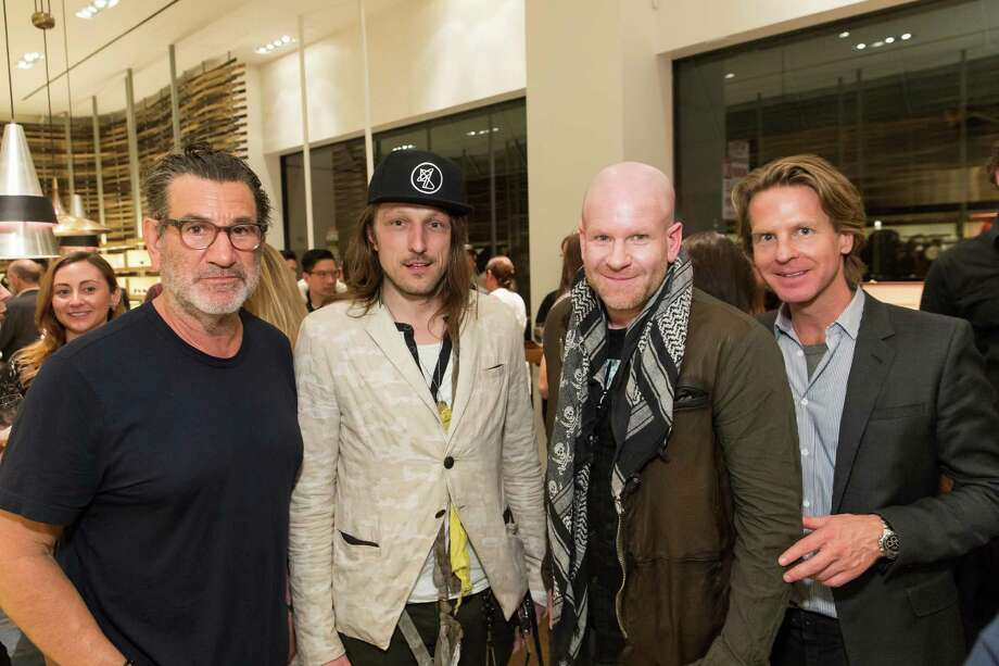 Larry Leight, Ian Hannula, Joe Haller and David Schulte at the opening celebration for the new Oliver Peoples San Francisco boutique on March 13, 2014. Photo: Drew Altizer, Drew Altizer Photography / Drew Altizer Photography