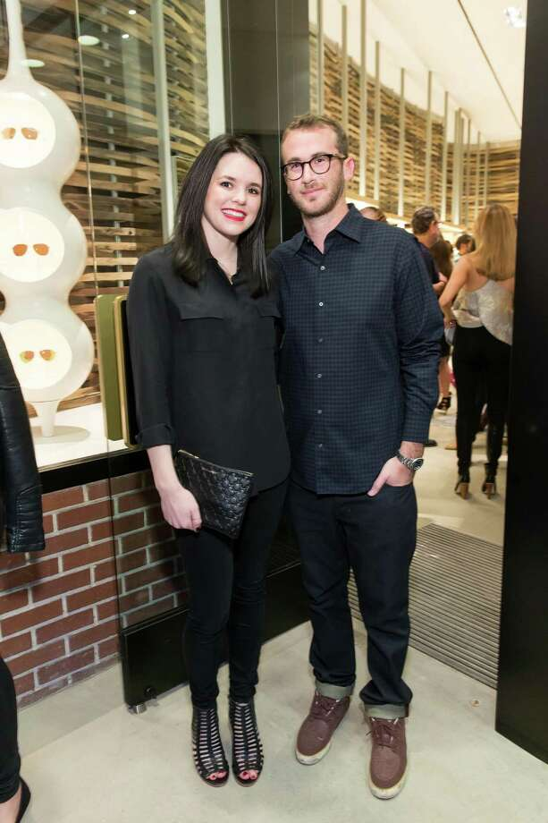 Samantha Noonan and Edan Rudin at the opening celebration for the new Oliver Peoples San Francisco boutique on March 13, 2014. Photo: Drew Altizer, Drew Altizer Photography / Drew Altizer Photography