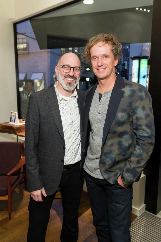 Chad Lissak and Yves Behar at the opening celebration for the new Oliver Peoples San Francisco boutique on March 13, 2014. Photo: Drew Altizer, Drew Altizer Photography / Drew Altizer Photography
