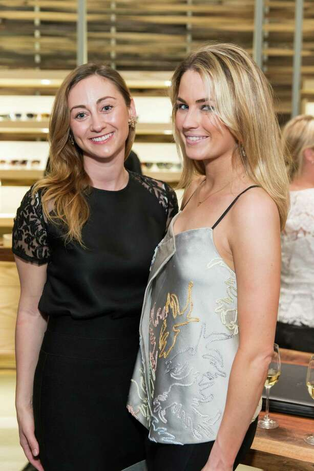 Rebecca Miller and Amanda Hearst at the opening celebration for the new Oliver Peoples San Francisco boutique on March 13, 2014. Photo: Drew Altizer, Drew Altizer Photography / Drew Altizer Photography