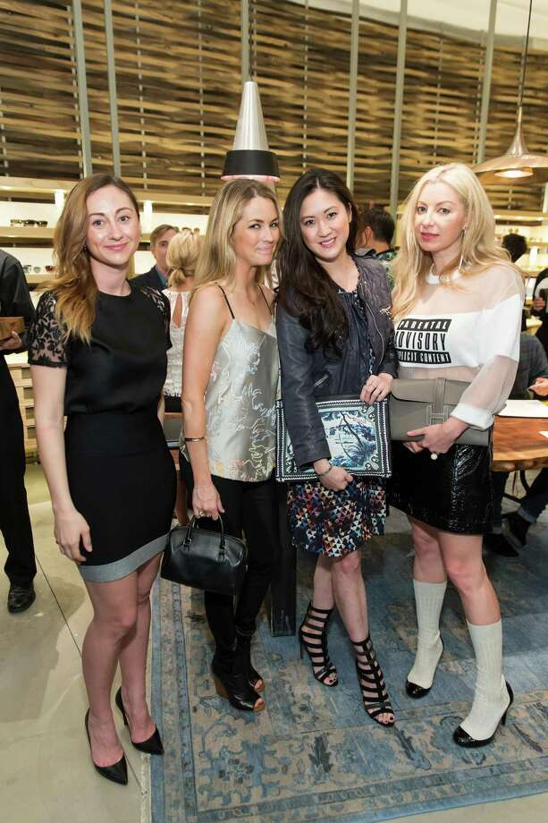 Rebecca Miller, Amanda Hearst, Jessica Hon and Sonya Molodetskaya at the opening celebration for the new Oliver Peoples San Francisco boutique on March 13, 2014. Photo: Drew Altizer, Drew Altizer Photography / Drew Altizer Photography