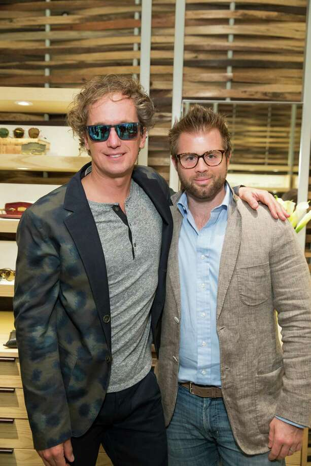 Yves Behar and Joey Cannata at the opening celebration for the new Oliver Peoples San Francisco boutique on March 13, 2014. Photo: Drew Altizer, Drew Altizer Photography / Drew Altizer Photography