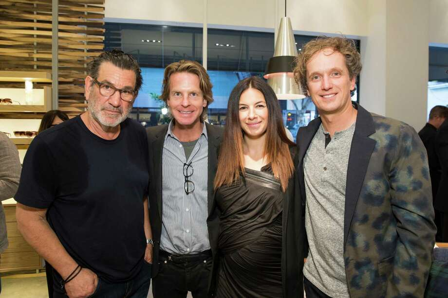 Larry Leight, David Schulte, Sabrina Buell and Yves Behar at the opening celebration for the new Oliver Peoples San Francisco boutique on March 13, 2014. Photo: Drew Altizer, Drew Altizer Photography / Drew Altizer Photography