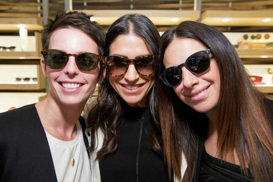 Jessica Silverman, Liza Cannata and Sabrina Buell at the opening celebration for the new Oliver Peoples San Francisco boutique on March 13, 2014. Photo: Drew Altizer, Drew Altizer Photography / Drew Altizer Photography