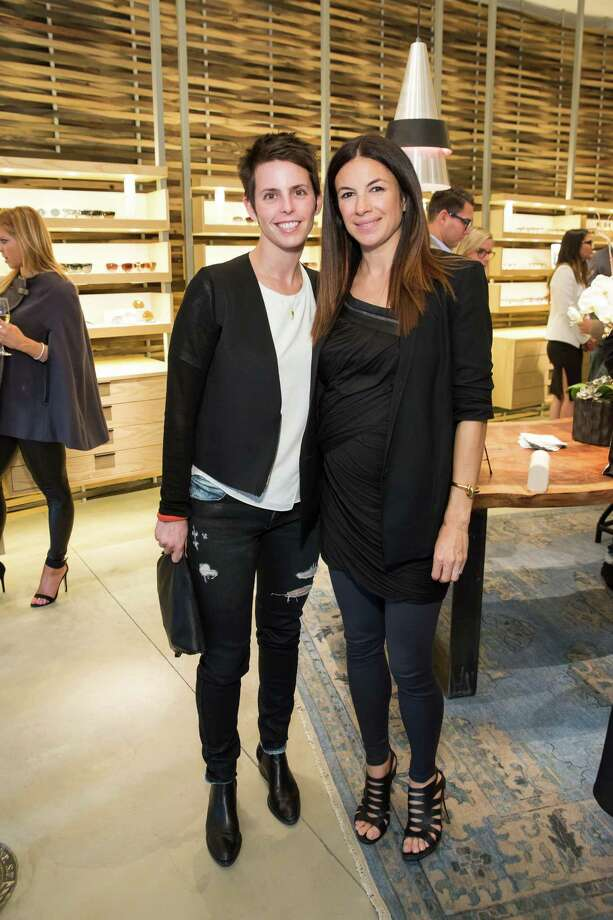 Jessica Silverman and Sabrina Buell at the opening celebration for the new Oliver Peoples San Francisco boutique on March 13, 2014. Photo: Drew Altizer, Drew Altizer Photography / Drew Altizer Photography
